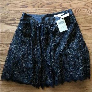 NWT Boston Proper black with gold circle skirt